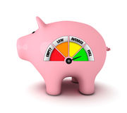 Piggy bank with full fuel gauge Stock Images