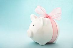 Piggy bank gift of money Stock Images