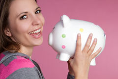 Piggy Bank Girl Stock Images