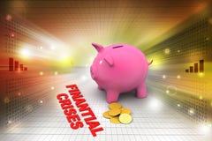Piggy bank with gold coins Stock Photos