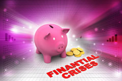 Piggy bank with gold coins Stock Photography