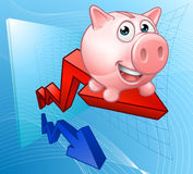 Piggy Bank Graph Concept Royalty Free Stock Photography