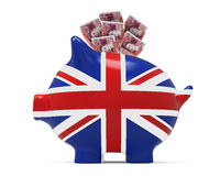 Piggy Bank with Great Britain Pound Royalty Free Stock Photography