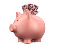 Piggy Bank with Great Britain Pound Royalty Free Stock Image