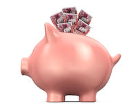 Piggy Bank with Great Britain Pound Royalty Free Stock Photo