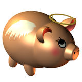 Piggy bank with a halo Stock Image