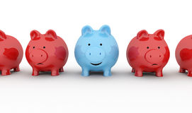 Piggy bank happy Stock Photography