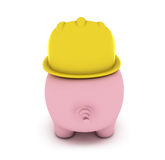 Piggy bank with hardhat Stock Images
