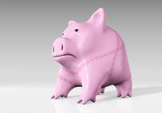 Piggy bank has been mended Royalty Free Stock Photography
