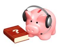 Piggy bank and headphone Stock Photos