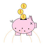 Piggy bank with holes Royalty Free Stock Photos