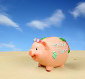 Piggy Bank Holiday Saving Stock Images