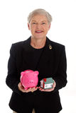 Piggy Bank and Home Royalty Free Stock Photography