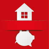 Piggy Bank House Banner Royalty Free Stock Image