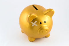 Piggy bank hurt concept Stock Photos