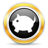 piggy bank icon Royalty Free Stock Image