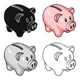 Piggy bank icon in cartoon style isolated on white background. Money and finance symbol stock vector illustration. Piggy bank icon in cartoon style isolated on Stock Photo