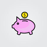 Piggy bank icon. Illustration  on white background for graphic and web design. Piggy bank icon. Illustration  on white background for graphic and web design Royalty Free Stock Photo