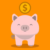 Piggy bank icon Royalty Free Stock Photography