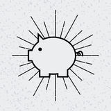 Piggy bank icon Stock Photos