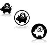 Piggy bank icon Stock Photos