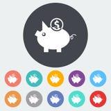 Piggy bank icon. Royalty Free Stock Image