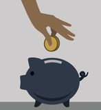 Piggy bank icon Royalty Free Stock Photos