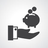 Piggy bank icon vector Stock Image