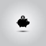 Piggy bank icon Royalty Free Stock Photo