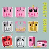 Piggy bank icon vector Royalty Free Stock Image