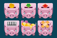 Piggy bank  icons Stock Photos