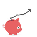 Piggy bank and interest Stock Images