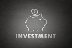 Piggy bank investment concept royalty free stock photography