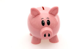 Piggy Bank Isolaged. Pink Piggy Bank Isolated Against White Background Stock Images