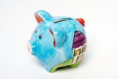 Piggy bank isolated. On a white background royalty free stock photos