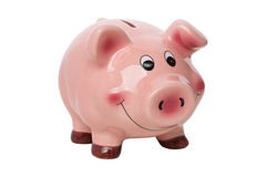 Piggy bank isolated over white background Stock Photos