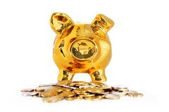 Piggy bank isolated over white. Stock Photo