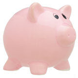 Piggy bank isolated on white Royalty Free Stock Image