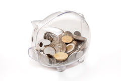 Piggy bank. Isolated on white background Stock Photography