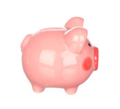 Piggy bank isolated on white Stock Photos
