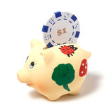 Piggy bank isolated on white background Royalty Free Stock Photos