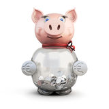 Piggy bank isolated on a white Stock Photo