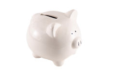 Piggy Bank isolated on white background Royalty Free Stock Photo