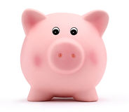 Piggy bank isolated on white background. Pink piggy bank isolated on white background Stock Images