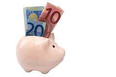 Piggy bank isolated on white background Royalty Free Stock Photography