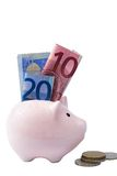 Piggy bank isolated on white background Royalty Free Stock Images