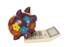 Piggy Bank Math Royalty Free Stock Image