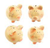 Piggy bank with medical patches set Stock Images