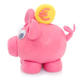 Piggy bank model Royalty Free Stock Images