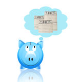 Piggy bank with money Royalty Free Stock Photography